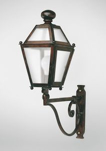 CHIANTI GL3009AR-1UP, Iron lantern with arm, for outdoor use