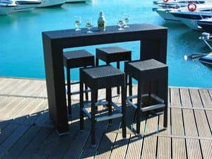 Picture of Insula bar 1 black, tall table