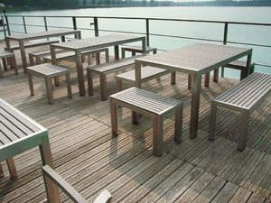 Picture of SET BAVARIA 667/T table, stainless steel tables