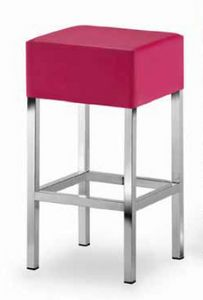 Cube-T, Padded stool with square seat