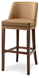 MILANO SG, Stool in wood with upholstered seat