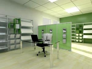Picture of inUNO partition units for office and openspace, dividing panels