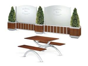 Picture of Outdoor modular partitions, integrated dividing panel