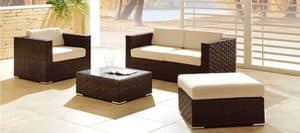 Picture of Jamaica lounge, seat-and-table-in-natural-or-synthetic-wicker