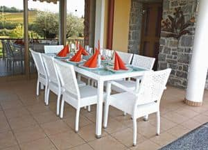 Picture of Lord set, seats and tables in natural or synthetic wicker