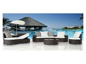 Picture of Ocean Lounge, seats and tables in natural or synthetic wicker