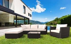 Bar woven rattan garden forniture set Santa Monica � SM935RAT, Outdoor furniture set, sofa and armchairs for gardens