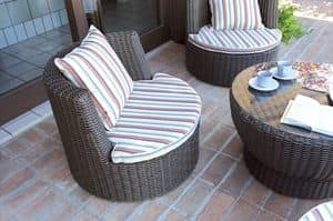 Picture of Torre, seats and tables in natural or synthetic wicker