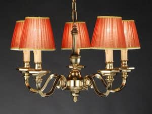 Art. 16300/5, Classic style chandelier with lampshades on request