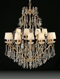 Art. 3881/12+6, Luxurious chandelier ideal for classic furniture