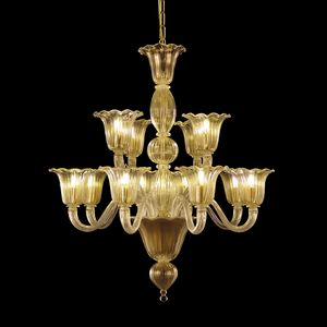 Bellepoque LE0364-8+4-K, Crystal chandelier with staggered lights