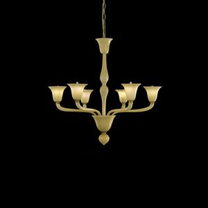 Bevante L0353-6-VF, Chandelier in Venetian glass, smoked color