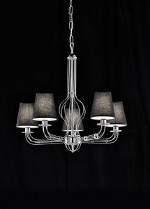 CALLE � 70, Chandelier with 5 lampshades