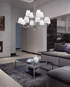 CALLE � 85 x H 80, Chandelier with lampshades