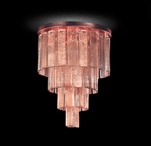 Charleston PL7501-40�50-U1, Ceiling lamp with worked glass strips