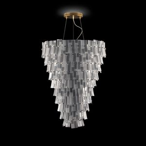 Chimera SS7701-DK, Suspension lamp with listels, gold finishings