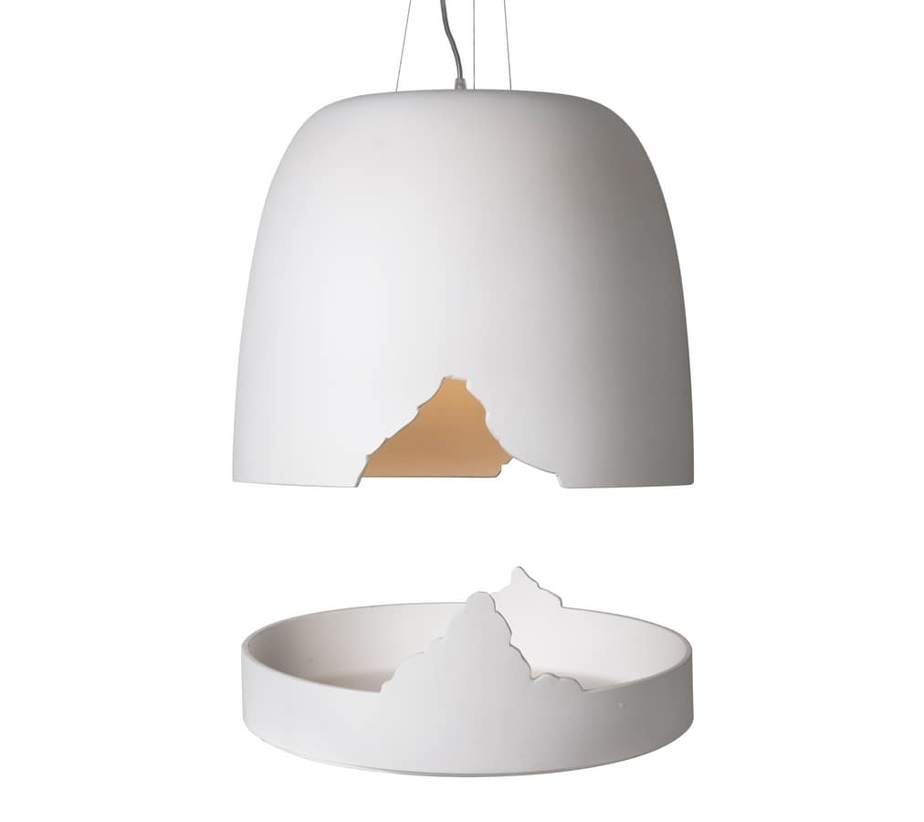 Crash SE114 1B INT, Ceramic pendant lamp, matchable with the complementary tray
