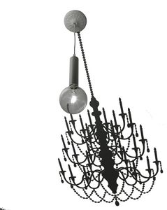 Ghost SE634G, Suspension lamp with adhesive sticker drawing