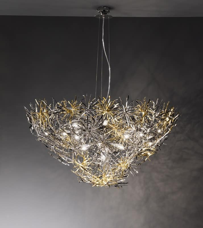 l in modern style finishing in nickel chrome and gold idfdesign