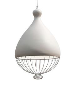 Le Trulle SE653T, Lamp with ceramic lampshade, with lower part in metallic thread