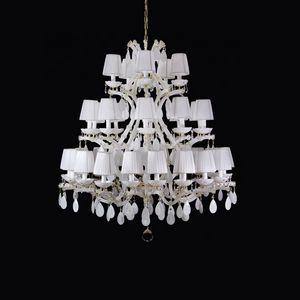 Maria Theresa LT5107-35-WW-K, Triple tier chandelier, Maria Teresa style