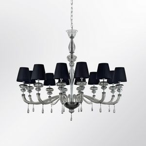 Palladium LP1001-12-DJ, Blown glass chandelier with lampshades