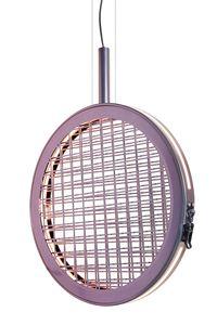 Periplo SE156 A, Suspension lamp with metallic intertwining