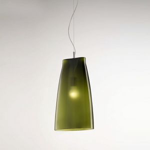 Seppia Ls623-045, Blown glass lamp, in satin olive green finish
