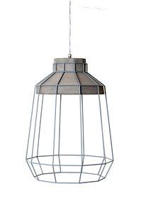 Settenani SE688N7, Suspension lamp for interior, concrete and metal thread