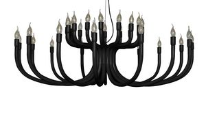 Snoob SE609, Suspension lamp with 16 arms, in lacquered aluminum
