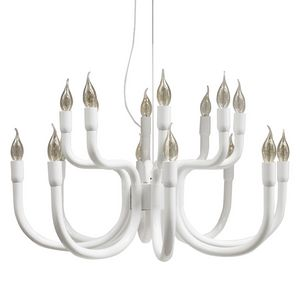 Snoob SE610, Chandelier in lacquered aluminum, with 8 arms