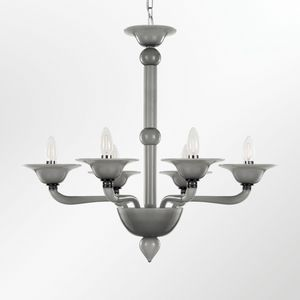 Tobia L0347-6-VD2, Artistic glass chandelier, smooth surface