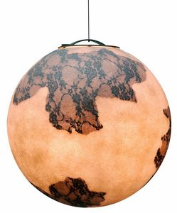 Ululì Ululà SE649, Moon-shaped lamp, in fiberglass, also for outdoor use