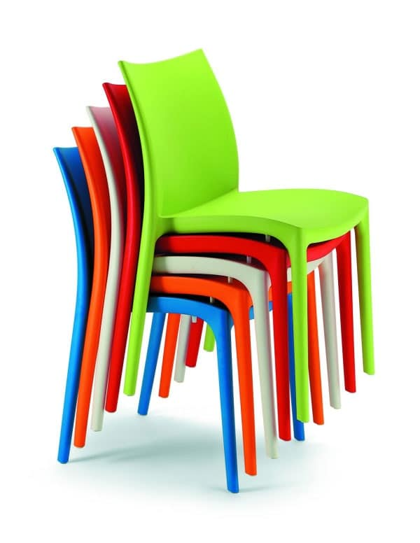 064 ZIP, Stackable Chair In Plastic Of Various Colors