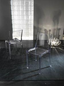 Art. 035 B-cristal, Transparent polycarbonate chair, stackable