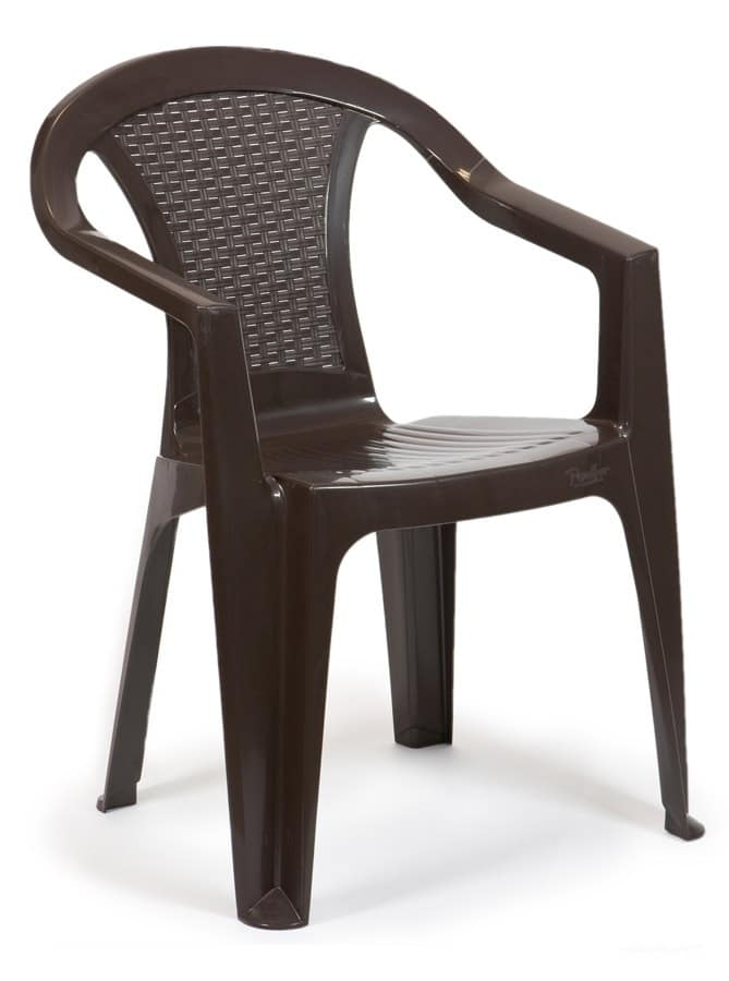 outdoor chair in poly rattan for bars hotels and swimming pools idfdesign. Black Bedroom Furniture Sets. Home Design Ideas