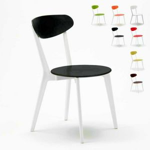 Chair kitchen bar restaurant trattoria CUISINE paesana Design - SC659PP4PZ, Stackable vintage chair