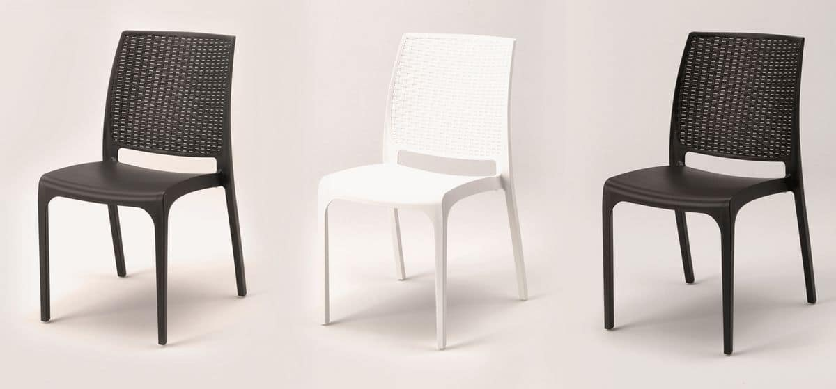 Stackable Plastic Chair For Outdoor And Gardens Idfdesign