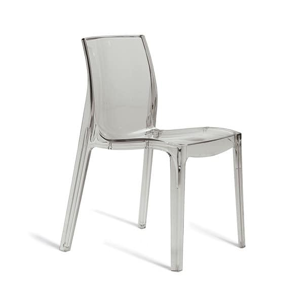 Monobloc Chair: Monobloc Chair Made Of Transparent Polycarbonate