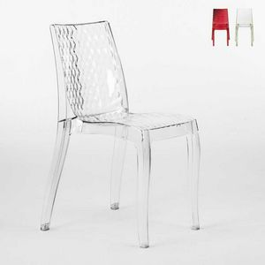Internal transparent design chair Hypnotic - S6319, Transparent polycarbonate chair, for outside