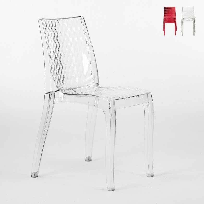 transparent polycarbonate chair, for outside | idfdesign