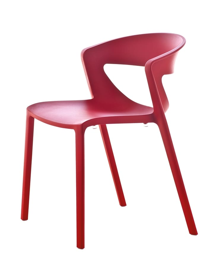 Stacking Polypropylene Chair Suited For Bars Idfdesign