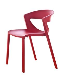 Kicca One, Stacking polypropylene chair suited for bars
