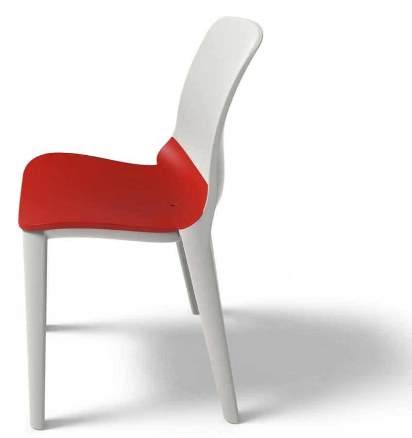 Chair In Polypropylene Uv Resistant Stackable Idfdesign