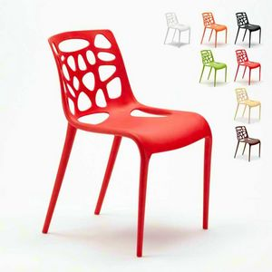 Modern design anti-UV polypropylene chairs GELATERIA Connubia for kitchen and bar - SG613PP, Polypropylene chair for outdoor bar