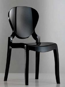 Queen, Chair in transparent or glossy plastic