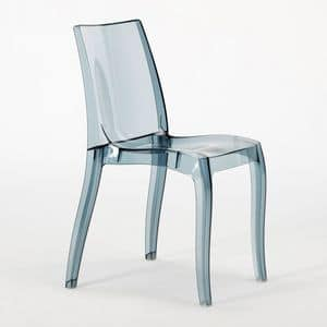 Transparent polycarbonate chair Cristal Light � S6326, Modern chair, made of polycarbonate, for contract