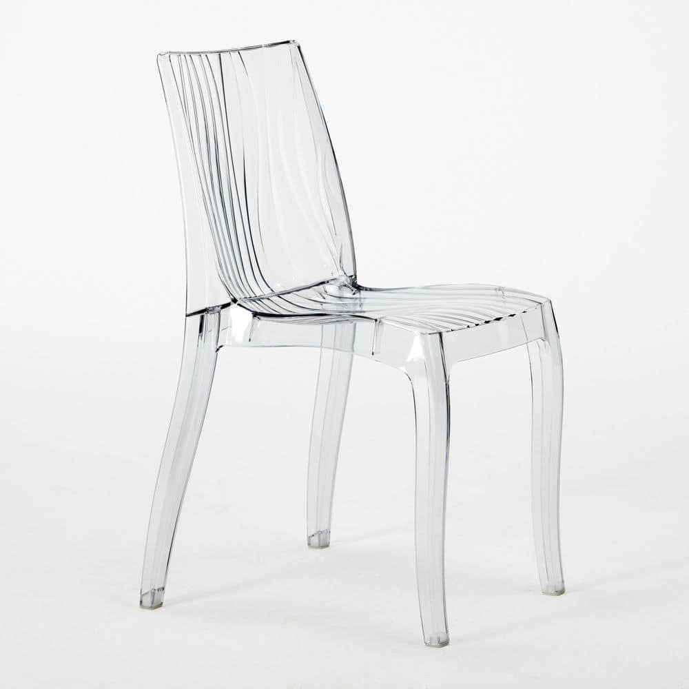 Grand Soleil Chair In Transparent Polycarbonate Dune U2013 S6327, Stackable  Chair Made Of Translucent Polycarbonate