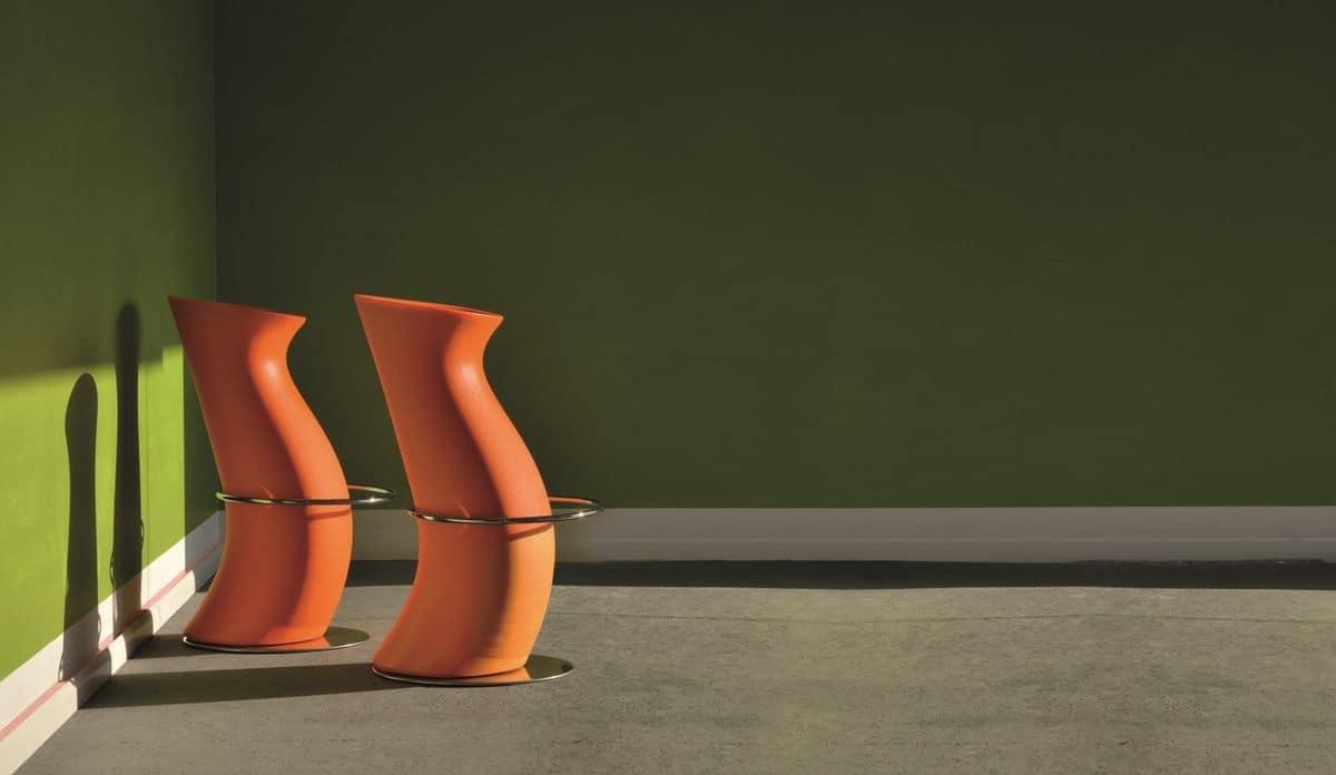 Hula Op, Modern barstool, in polyethylene, for fashion bar