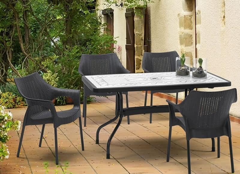 Ribalto Top table 140x80, Garden table with reclining top